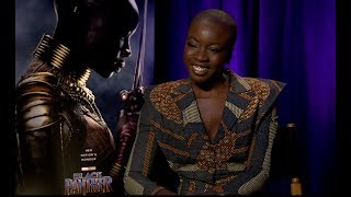 Black Panther Movie :  Interview with Danai Gurira | Tapis rose