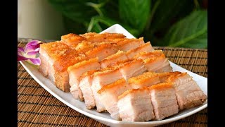 Siu Yuk, Chinese Crispy Roast Pork Belly: Hong Kong Chachaanteng-style Cantonese pork, at home (烧肉)