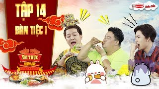 """Thiên đường ẩm thực 4 Tập 14 bàn tiệc 1: Trường Giang, Hoàng Mập """"hành"""" Quang Trung """"cắn nghiến tay"""""""