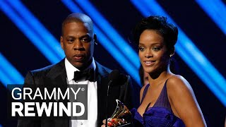 Witness Rihanna Accept Her First-Ever GRAMMY Win With JAY-Z For