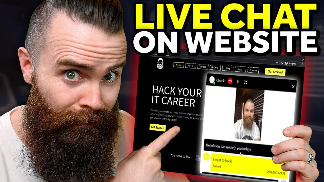 i added live video chat to my website!!