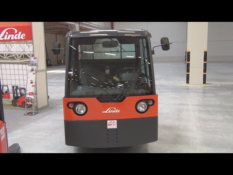 Linde P 250 Electric Tow Tractor Exterior and Interior in 3D