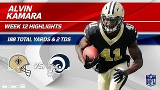 Alvin Kamara's Amazing Game w/ 188 Total Yds & 2 TDs! | Saints vs. Rams | Wk 12 Player HLs
