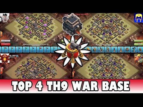 Clash of clans best th9 war base 2 defensive replays musica movil