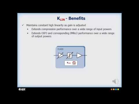 Constant Linearity (KLIN) RF Technology by IDT