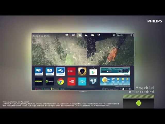 Philips : Annonce de la série 8800 des TV sous Android