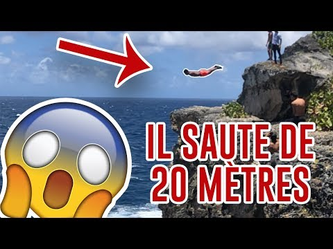 Il plonge de 20 mètres de haut ! guadeloupe - Anse-Bertrand