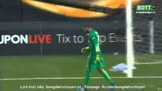 Pha nã đại bác của Thibaut Courtois =))) dính bóng vào lưới