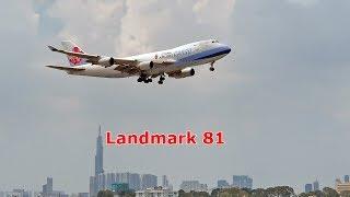 Máy bay 747 khổng lồ hạ cánh xuống Tân Sơn Nhất (Subtitle) Jumbo jet landing SGN.