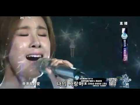[한글자막] 장리인(Zhang Li Yin) - 爱的独白 ~Agape~ (사랑의 독백) 140809 Global Chinese Music Chart Live Ver.
