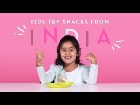 Kids Try Snacks from India | Kids Try | HiHo