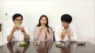 Người Hàn Quốc thử ăn đồ ăn Việt Nam - 한국사람의 베트남음식 체험 [Bánh Cốm]