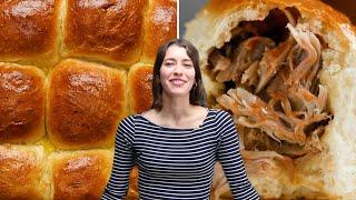 How To Make Pulled Pork-Stuffed Milk Buns • Tasty