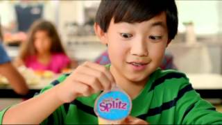 Gogurt Yoplait commercials- kids go flat when they slurp gogurt 2012