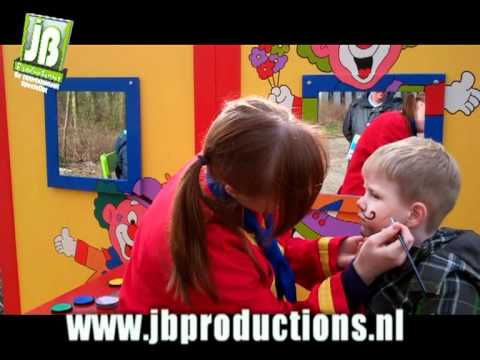 kinderen schminken de clowns schminkstand jb productions. Black Bedroom Furniture Sets. Home Design Ideas