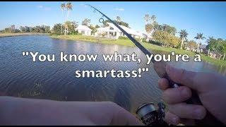 CRAZY CURSING WOMAN RETURNS while Fishing!– Wellington, Florida Fishing!