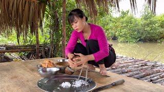 GÀ NƯỚNG ĂN KÈM VỚI XÔI NHẬN LƯƠNG YOUTUBE VÀ PHÁT LƯƠNG CHO CẢ NHÀ   thôn nữ cà mau