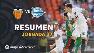 Resumen de Valencia CF vs Deportivo Alavés (3-1)