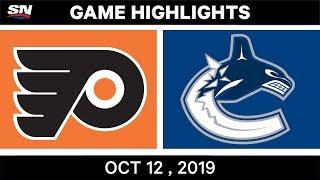 NHL Highlights | Flyers vs Canucks – Oct 12th 2019