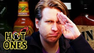 Pete Holmes Does Improv While Eating Spicy Wings | Hot Ones
