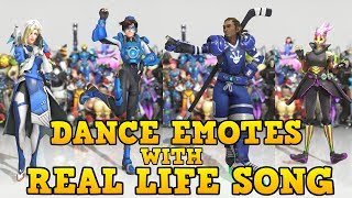 ❤ ALL 2017 DANCE EMOTES WITH SONGS THAT SYNCED (Mostly) | Overwatch: Anniversary ❤