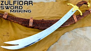 Making ZULFIQAR Replica Sword out of JUNK - Sword Making