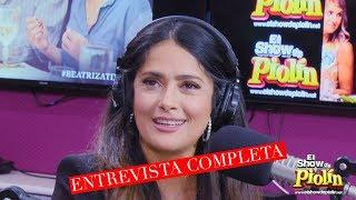 Salma Hayek y El director Miguel en El Show de Piolin