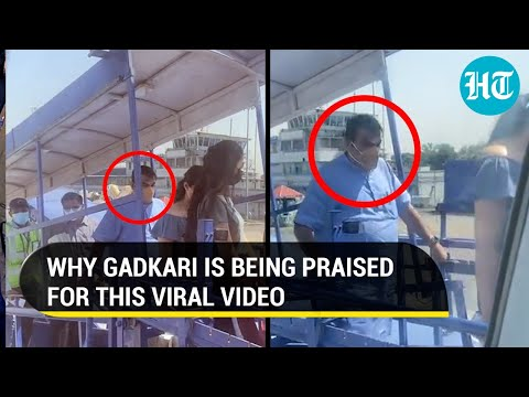 Nitin Gadkari standing in queue like common man to board flight: Video goes viral, minister hailed
