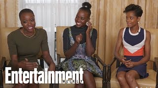 'Black Panther' Danai Gurira, Letitia Wright On Their Epic Rap Battles On Set | Entertainment Weekly