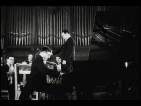RARE: Young Shostakovich Playing end of op.35 (1934?)