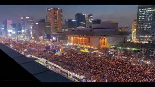 Time lapse : 2016 South Korean Protests