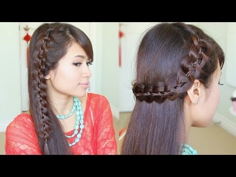 Unique 4-Strand Lace Braid Hairstyle For Long Hair Tutorial - Smashpipe Style