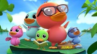 Five little Ducklings | 3D Nursery Rhymes | Kids Songs | Baby Rhymes by Farmees