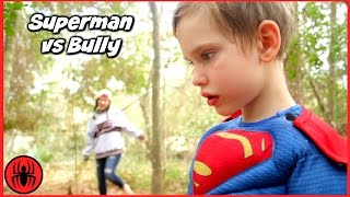 Superman vs Bully Girls vs Boys Toys w Cleaning Lady's Dream in real life Superhero Kids