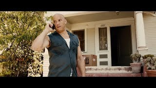 Furious 7 Dwayne Johnson Vs Jason Statham and Dominic's House Explosion Scene