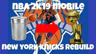 MEETING OLD FRIENDS!!! NBA 2K19 MOBILE NEW YORK KNICKS REBUILD SERIES!