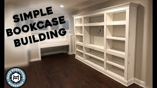 Building A Simple Book Case! Woodworking How To