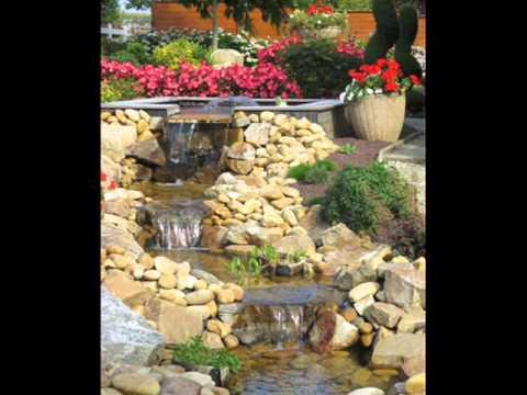 amenagement d 39 un bassin naturel avec cascades d 39 eau youtube. Black Bedroom Furniture Sets. Home Design Ideas