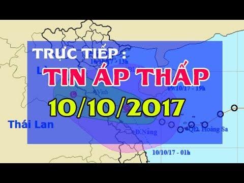 Tin Thời Sự Hôm nay (11h30 - 10/10/2017) : Tin Áp Thấp Nhiệt Đới Gây Mưa To Gió Cấp 9 Tại Miền Trung
