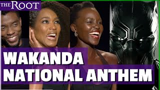 "The Cast of ""Black Panther"" Sing the Wakanda Anthem"