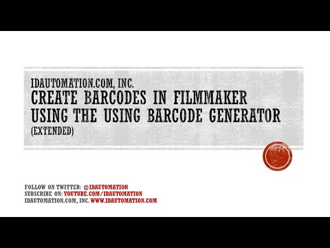 How to Create Barcodes in FileMaker 14 using the Native FileMaker Generator