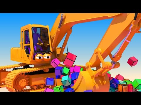 VIDS for KIDS in 3d (HD) - Excavator, Digger at work with Cubes for Children, Learn and Play - AApV