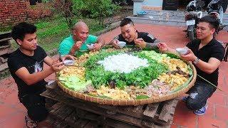Hữu Bộ | Làm Nia Bún Đậu Mắm Tôm Khổng Lồ To Nhất Việt Nam