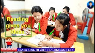 """#Learn English with teacher Soun Ley_ """"Reading, Wedding Day"""" Side by side, book1, page 50"""
