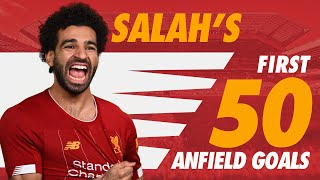 Mo Salah's first 50 Liverpool goals at Anfield | Chelsea, Roma, Man City and more