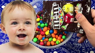 Full of M&M's with Johny Johny Yes Papa Nursery Rhymes Candy Kids Videos