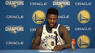 Jordan Bell Postgame Interview / Warriors vs Lakers / Dec 22
