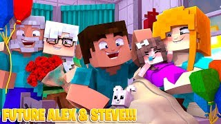 Minecraft TEEN ALEX GIVES BIRTH TO A BABY!!!! Future Life of Alex & Steve