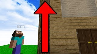 SLOWLY MAKING NOOBS HOUSE BIGGER TILL THEY NOTICE! (Minecraft Trolling)