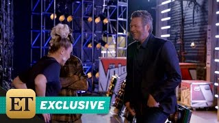 EXCLUSIVE: Miley Cyrus Challenges Blake Shelton to Dance in 'The Voice' Bloopers